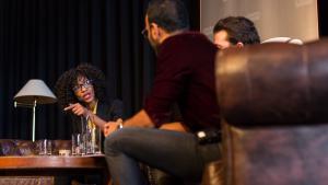 Sylvana Simons bij Room for Discussion: 'Basisbeurs moet terug'